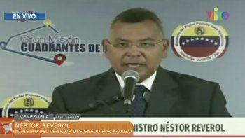 El ministro del Interior, NéstorReverol.