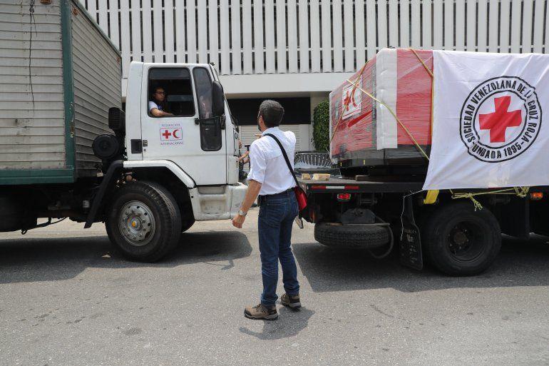 Resultado de imagen para cargamento de ayuda humanitaria cruz roja