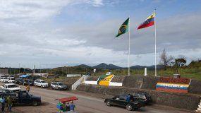 Fotografía del 22 de octubre de 2016, de la frontera de Brasil con Venezuela en la ciudad de Pacaraima.