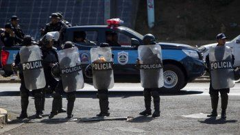 Cuerpo antimotín de la policia en Nicaragua.