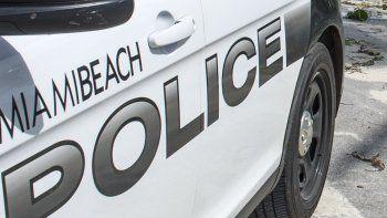 Vista parcial de un auto de la Policía de Miami Beach.