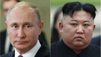 El líder de Corea del Norte, Kim Jong-un, y el presidente ruso Vladimir Putin.