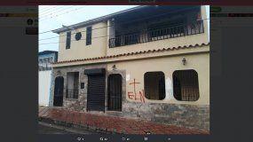 Diputado venezolano, Franklyng Duarte denuncia que su residencia fue marcada por el ELN.