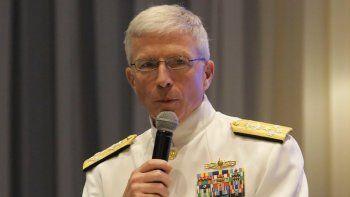El almirante Craig Faller,jefe del Comando Sur de las Fuerzas Armadas de EEUU.