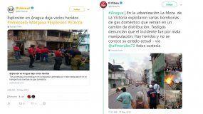 Medios de prensa venezolanos reflejaron en las redes la magnitud del desastre.
