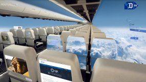 Los aviones del futuro no tendrán ventanas