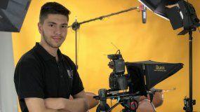 George Ebro, un joven realizador de Miami que ganó mención especial en elLondon-Worldwide Comedy Short Film Festival.