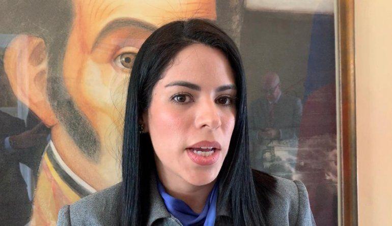 """María Faría, embajadora de <font face=""""Verdana, Arial, Helvetica, sans-serif"""">Venezuela</font> en <font face=""""Verdana, Arial, Helvetica, sans-serif"""">Costa Rica</font>."""