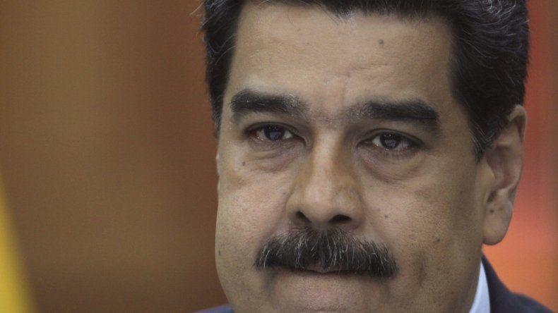 Nicolás Maduro, durante una conferenica con la prensa extranjera en el palacio presidencial de Miraflores.