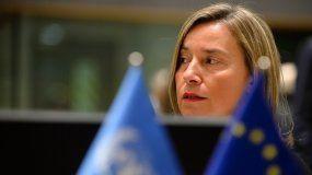 Federica Mogherini, jefa de la diplomacia europea.