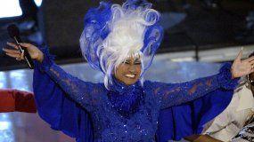 Celia Cruz durante la 3ra entrega anual de los Premios Grammy Latinos el miércoles 18 de septiembre de 2002 en el distrito de Hollywood, Los Ángeles.