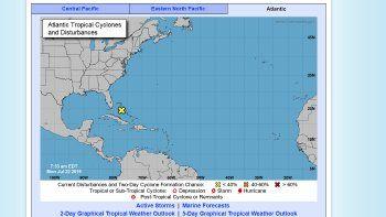 La perturbación llegará al sur de la Florida el lunes por la noche con lluvias y algunas tormentas eléctricas.
