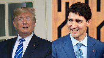 Donald Trump (izq.), presidente de EEUU, y Justin Trudeau, primer ministro de Canadá, han reafirmado su apoyo al nuevo Tratado de Libre Comercio de América del Norte