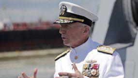 Fotografía del 27 de julio de 2019 del almirante Craig Faller, comandante del Comando Sur de Estados Unidos, en Fort Lauderdale, Florida.