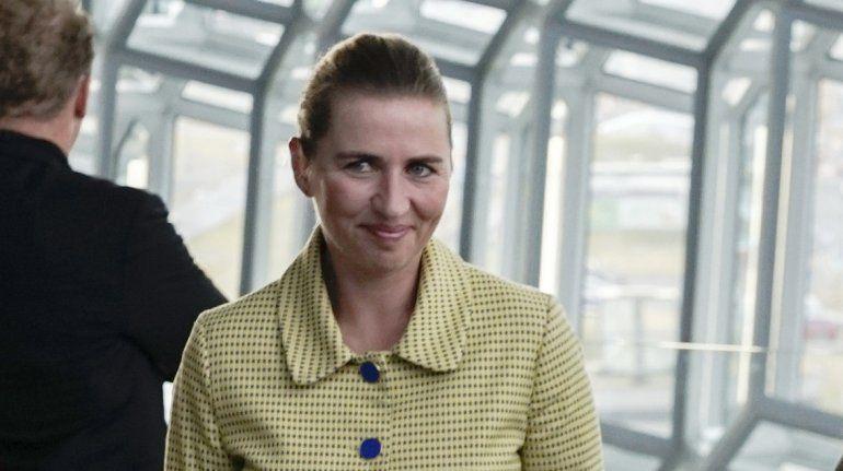 Mette Frederiksen, primera ministra de Dinamarca, a su llegada a la sala de conciertos Harpa, en Reykiavik, el martes 20 de agosto de 2019.