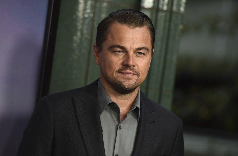 El actor Leonardo DiCaprio en el estreno de la películaIce on Fire