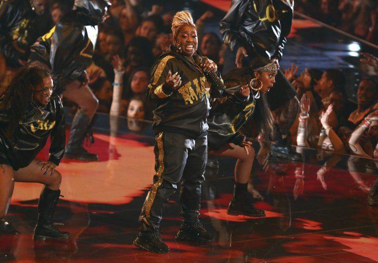 La galardonada con el Premio Video Vanguard Missy Elliott durante su presentación en los Premios MTV a los Videos Musicales en el Prudential Center el lunes 26 de agosto de 2019 en Newark, Nueva Jersey.