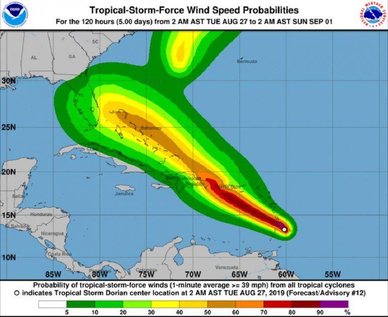 Resultado de imagen para Dorian se fortalece en su camino hacia Puerto Rico y República Dominicana