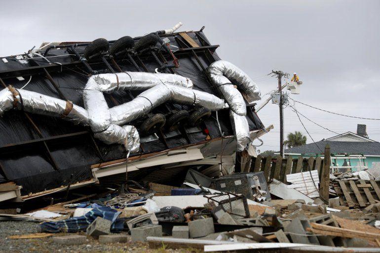 Parte de las zonas afectadas en Carolina del Norte, cuando el huracán Dorian avanzó por la costa este el jueves 5 de septiembre de 2019.