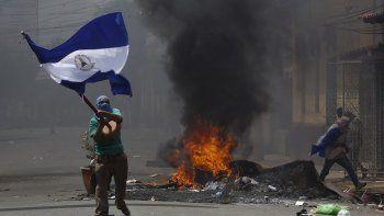 La bandera Azul y Blanco se ha convertidoen un símbolo de la lucha contra la segunda dictadura sandinista que encabeza Daniel Ortega.