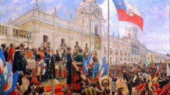 Cuadro sobre la jura de la independencia de Chile, del pintor chileno Pedro LeónMaximiliano María Subercaseaux.
