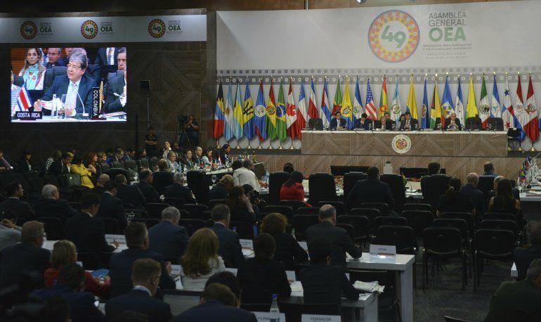 Los países miembros de la OEA aprobaron activar el órgano de consulta del Tratado Interamericano de Asistencia Recíproca (TIAR)
