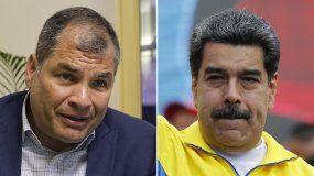 Rafael Correa, expresidente de Ecuador, y Nicolás Maduro, dictador en Venezuela.