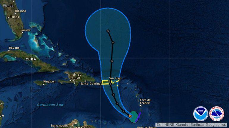Se prevé que la tormenta tropical Karen afecte a Puerto Rico el martes 24 de septiembre.