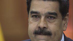 Fotografía del 9 de enero de 2019 del dictador venezolano Nicolás Maduro, en el Palacio de Miraflores en Caracas.