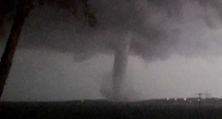 El tornado que arrasó con la zona cerca de Dallas el 20 de octubre del 2019.