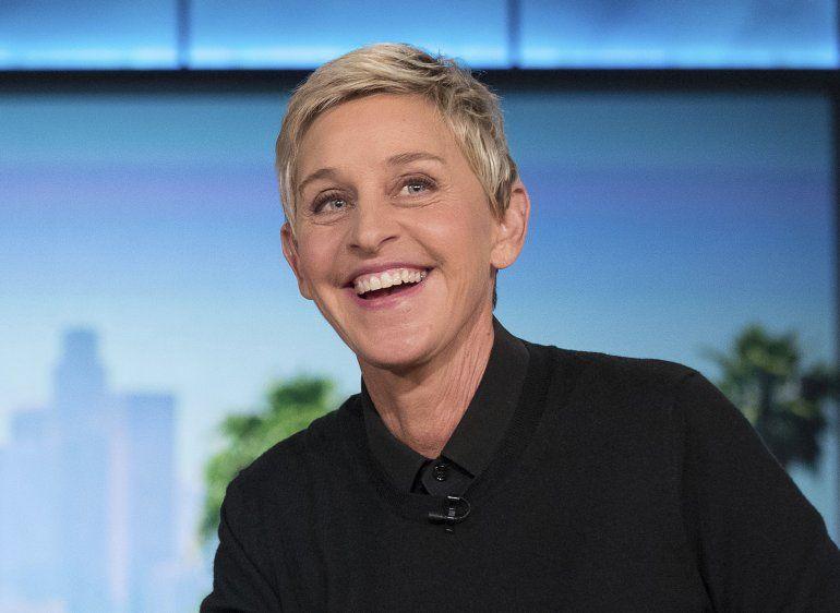 Ellen DeGeneres durante un corte comercial en la grabación de The Ellen Show en Burbank