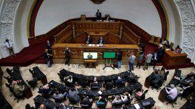Fotografía del 17 de septiembre de 2019 de una sesión de Parlamento venezolano encabezada por el presidente del poder legislativo, Juan Guaidó, en Caracas, Venezuela.