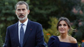 Los reyes de España, Felipe VI y Letizia, durante un acto en Madrid.