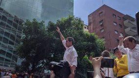 El presidente encargado Juan Guaidó durante la protesta celebrada en Venezuela este 16 de noviembre.