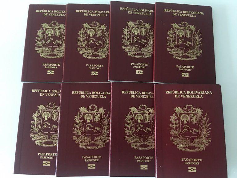 Pasaportes venezolanos.