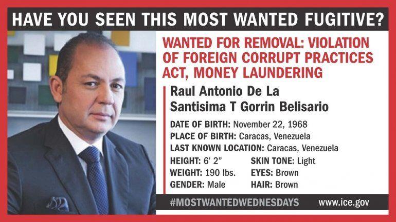 Raúl Gorrín está entre los buscados por EEUU.