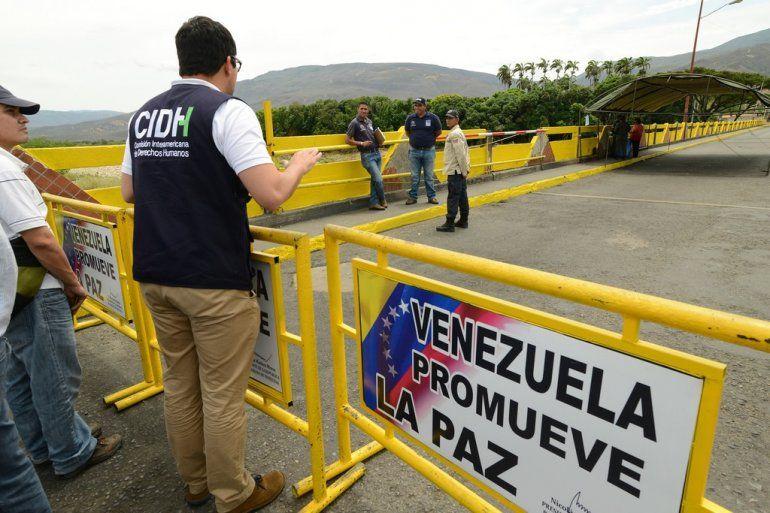 La frontera de Colombia con Venezuela.