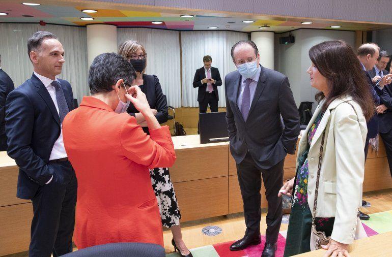 Los ministros de exteriores de España