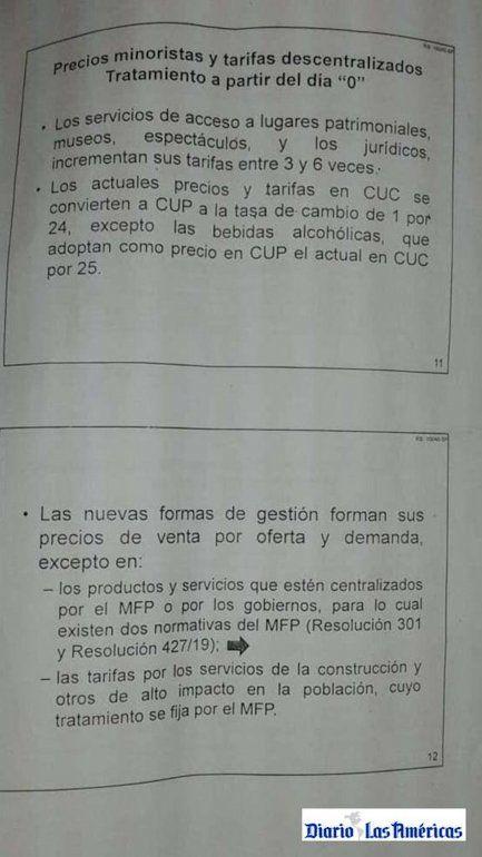 """Información sobre precios minoristas y tarifas descentralizados, y el tratamiento a partir del día """"0"""" en Cuba."""