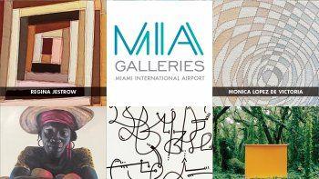Afiche promocional de MIA Galleries, el programa de exhibición de arte del Aeropuerto Internacional de Miami.