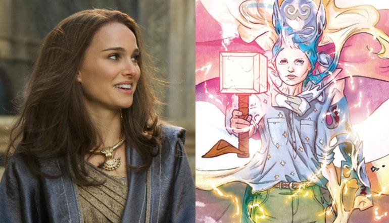 La actriz está inmersa en la lectura de la serie de cómics The Mighty Thor