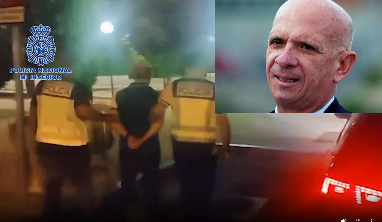 La Policía Nacional de España se lleva detenido a Hugo El Pollo Carvajal, uno de los hombres más importantes del gobierno de Hugo Chávez.