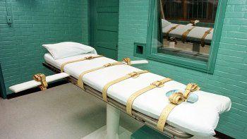 En esta foto de archivo tomada el 28 de febrero de 2000, la foto muestra la cámara de la muerte, en el Departmento de Justicia Criminal, en Huntsville, Texas.