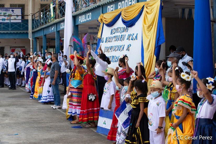 El régimen de Nicaragua conmemoró el bicentenario de la firma del Acta de Independencia de Centroamérica.