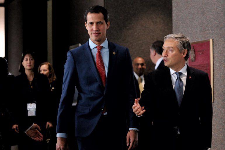 Presidente (E) de Venezuela Juan Guaidó@jguaido sostuvo encuentro con el ministro de Exteriores deCanadá