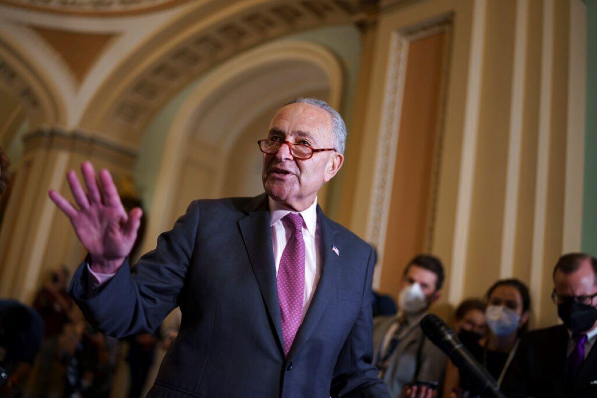 El líder demócrata en el Senado, Chuck Schumer.