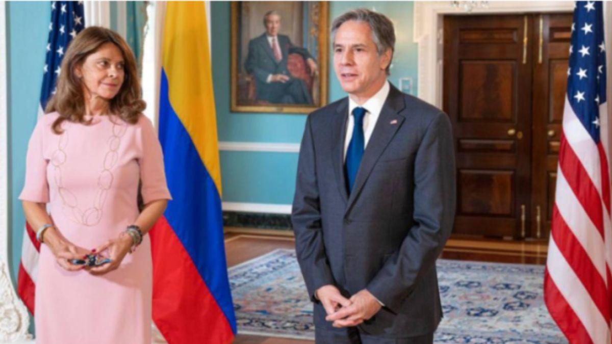 El secretario de Estado de EEUU Antony Blinken y la vicepresidenta de Colombia, Marta Lucía Ramírez, sostuvieron un encuentro en París, Francia, en el marco de una reunión de la OCDE.