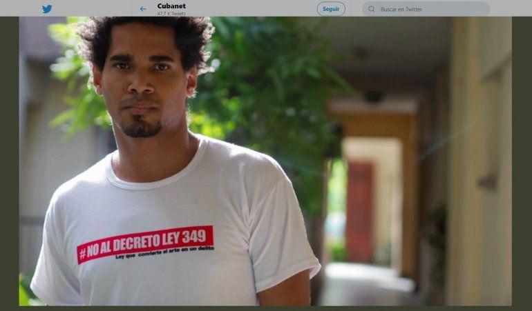 {altText(<p>#CUBA. Fotografía del artista y opositor cubano Luis Manuel Otero Alcántara publicada el 16 de septiembre de 2019 en la cuenta de Twitter de@CubanetNoticias.</p>,Exigen en Cuba liberación del artista Luis Otero Alcántara)}