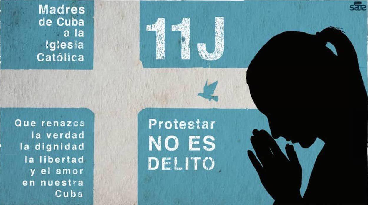 Cartel que acompaña a la carta abierta a la Iglesia, diseñado por el fotógrafo y realizador audiovisual Claudio Fuentes, quien desde su programa semanal Presos de Castro ha sido uno de los artífices de la campaña de igual nombre promovida desde 2019 por Estado de Sats.