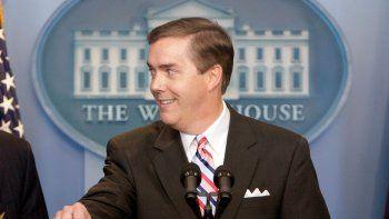 El presidente de la Asociación de Corresponsales de la Casa Blanca, Steve Scully, durante un evento en la sala de prensa James S. Brady de la residencia presidencial, en Washington, el 11 de julio de 2007.
